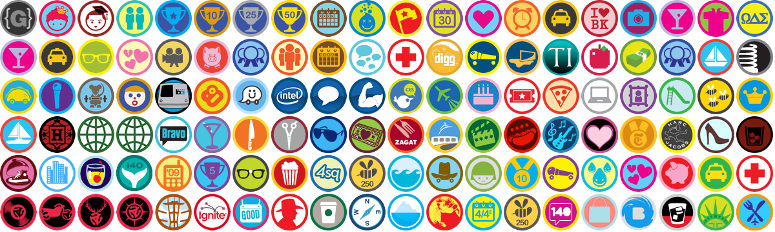 Badges used in gamification